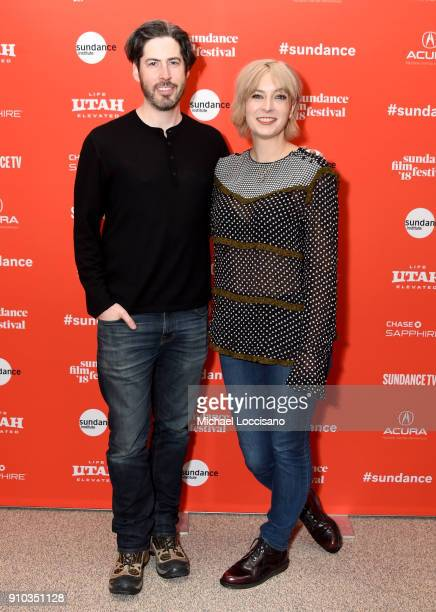 Director Jason Reitman and screenwriter producer Diablo Cody attend a surprise screening of Tully during the 2018 Sundance Film Festival at Eccles...