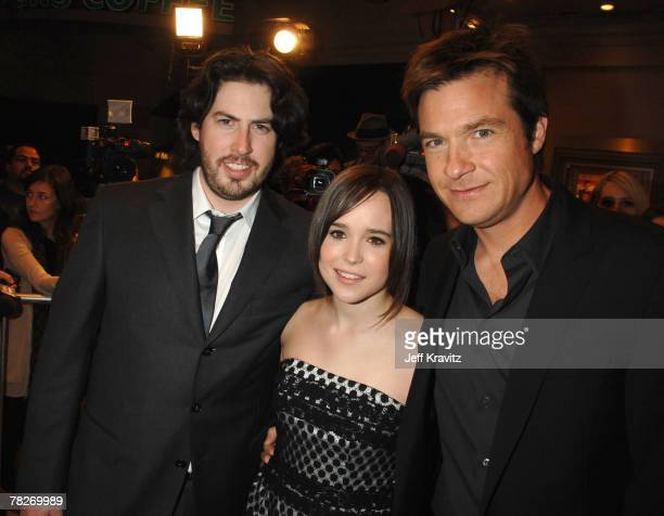Director Jason Reitman Ellen Page and Jason Bateman at the premiere of Fox Searchlight's Juno at the Village Theater on December 3 2007 in Westwood...