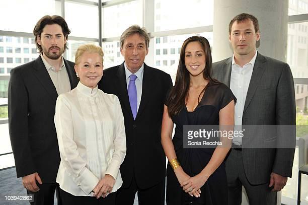 Director Jason Reitman, Genevieve Robert-Reitman, Director/Producer Ivan Reitman, Catherine Sternberg and Philip Sternberg attend the Reitman Square...