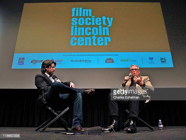 """Director Jason Reitman interviews director Mike Nichols at the Film Society of Lincoln Center screening of """"Carnal Knowledge"""" at the Walter Reade..."""