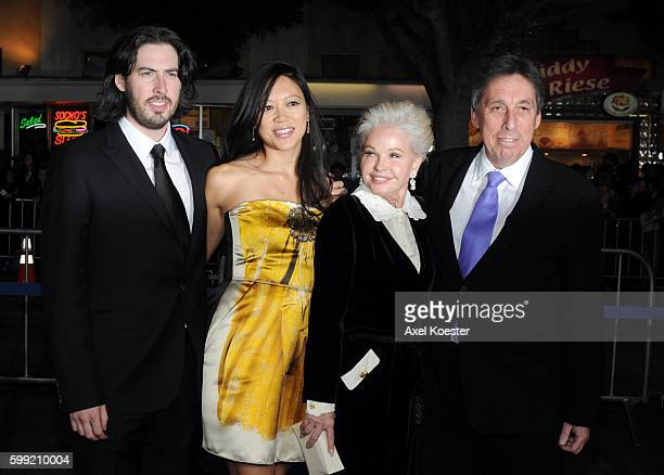 Director Jason Reitman Michele Lee Genevieve Robert and producer Ivan Reitman arrive to the Los Angeles premiere of Paramount Picture's 'Up In The...
