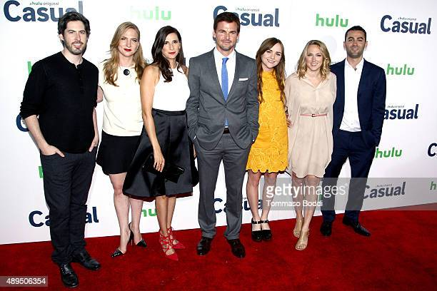 Director Jason Reitman producer Helen Estabrook actors Michaela Watkins Tommy Dewey Tara Lynne Barr writer Liz Tigelaar and actor Zander Lehmann...