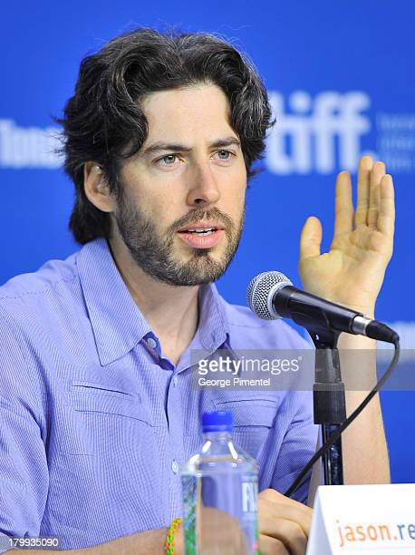 Director Jason Reitman speaks onstage at the 'Labor Day' Press Conference during the 2013 Toronto International Film Festival at TIFF Bell Lightbox...