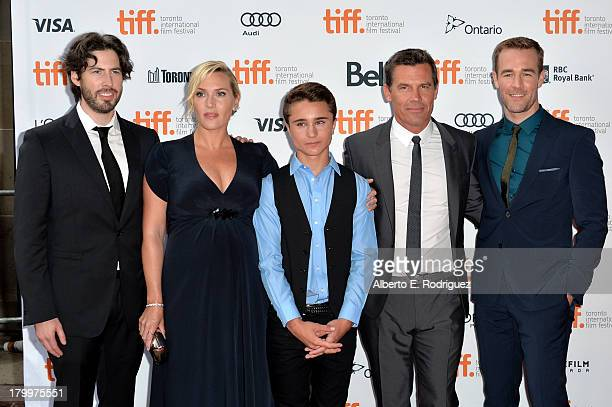 """Director Jason Reitman with actors Kate Winslet, Gattlin Griffith, Josh Brolin and James Van Der Beek at the """"Labor Day"""" premiere during the 2013..."""