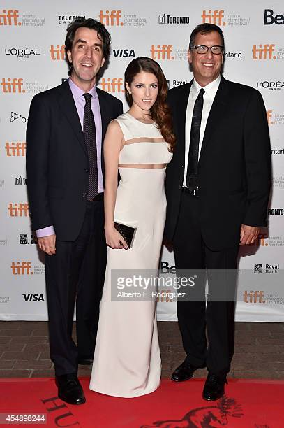 Director Jason Robert Brown actress Anna Kendrick and director Richard LaGravenese attend The Last Five Years premiere during the 2014 Toronto...