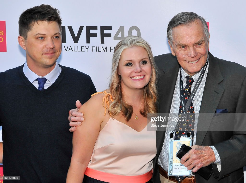 Director Jason Wise, Producer Christina Wise and subject Peter Marshall from the film 'Wait For Your Laugh' attend the 40th Annual Mill Valley Film Festival at The Outdoor Art Club on October 5, 2017 in Mill Valley, California.