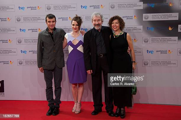 Director Javier Rebollo actress Valeria Alonso actor Jose Sacristan and Amparo Pascual attend the Donosti Awards ceremony at the Kursaal Palace...