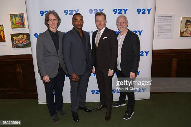 Director Jay Roach Actors Anthony Mackie Bryan Cranston and Writer Robert Schenkkan attend a preview screening of 'All The Way' at The 92nd Street Y...