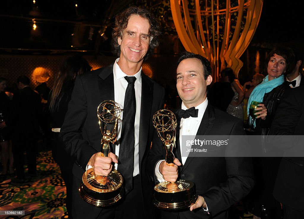 Director Jay Roach and writer Danny Strong attend HBO's Official Emmy After Party at The Plaza at the Pacific Design Center on September 23, 2012 in Los Angeles, California.