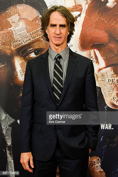 Director Jay Roach poses for photographers during HBO's 'All The Way' Washington DC Screening at The National Archives on May 16 2016 in Washington DC