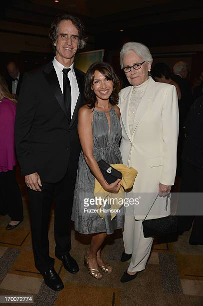 Director Jay Roach wife/musician Susanna Hoffs and AFI CEO Jean Firstenberg attend a reception at the 41st AFI Life Achievement Award Honoring Mel...