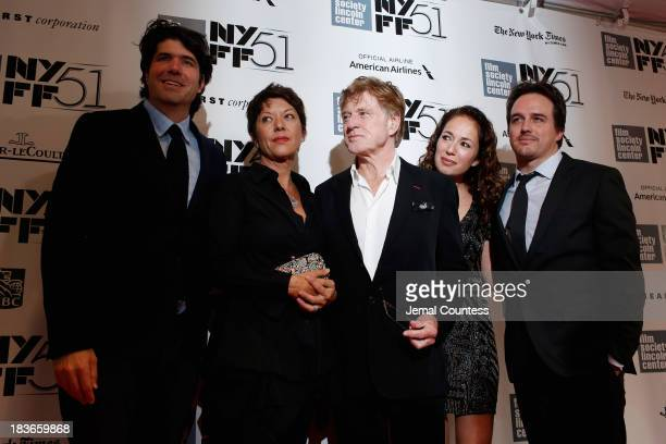 Director JC Chandor Sibylle Szaggars Robert Redford and producers Anna Gerb and Neal Dodson attend the All Is Lost premiere during the 51st New York...