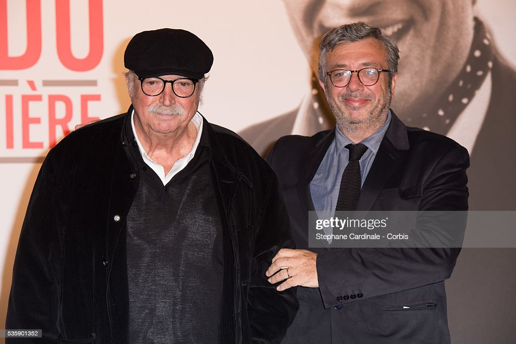 Director Jean Becker and his son Louis Becker attend the Tribute to Jean Paul Belmondo and Opening Ceremony of the Fifth Lumiere Film Festival, in Lyon.
