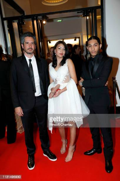 Director JeanBernard Marlin winner of the award for Best First Movie for Sheherazade Actors Kenza Fortas and Dylan Robert winners of the award for...