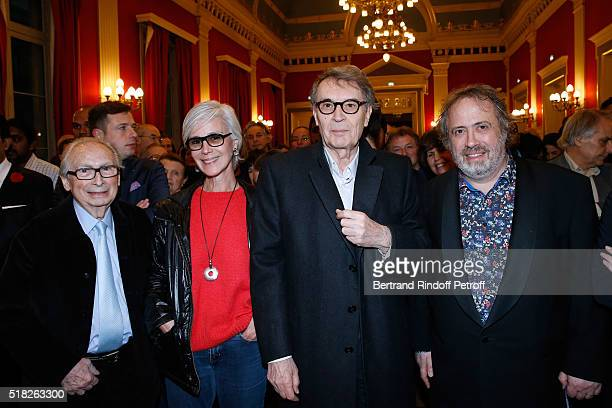 Director JeanCharles Tacchella CEO of Artmedia Bertrand de Labbey with his wife Marcia and Laureate of the Price Henri Langlois Belgian Director Jaco...