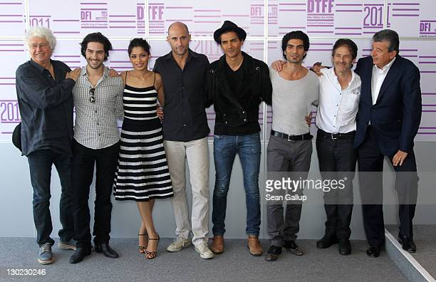 Director JeanJacques Annaud actors Tahar Rahim Freida Pinto Mark Strong Jan Uddin Akin Gazi composer James Horner and producer Tarak Ben Ammar attend...
