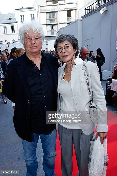 Director JeanJacques Annaud and his wife Laurence DuvalAnnaud attend Les Franglaises last show after 4 months of representation at Bobino on May 27...