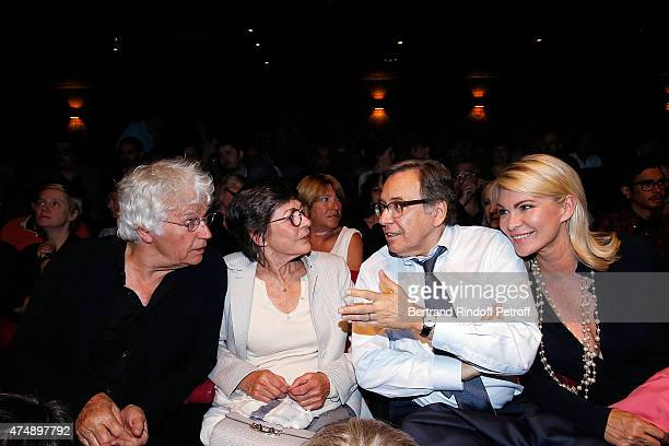 Director JeanJacques Annaud and his wife Laurence DuvalAnnaud President of TF1 Nonce Paolini and Catherine Falgayrac attend Les Franglaises last show...