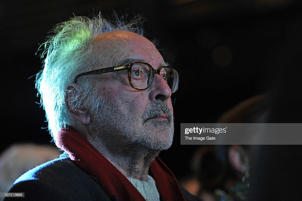Director Jean-Luc Godard looks on befroe receiving the Swiss Federal Design Award Grand Prix held at X-Tra on November 30, 2010 in Zurich, Switzerland. Jean-Luc Godard, who will be celebrating his 80th birthday on Friday, claimed he will spend the money of the prize to pay his Swiss tax he never had to pay the 35 previous years he lived in Switzerland.
