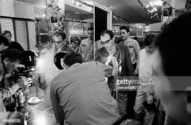 Director JeanLuc Godard on the set of his movie 'Two or Three Things I Know About Her' in France in August 1966