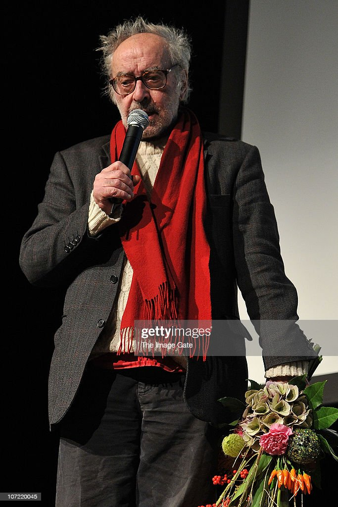 Director Jean-Luc Godard receives the Swiss Federal Design Award Grand Prix at X-Tra on November 30, 2010 in Zurich, Switzerland. Jean-Luc Godard who will be celebrating his 80th birthday on Friday, and has lived in Switzerland for 35 years claimed he will spend the money of the price to pay his Swiss tax he never had to pay the previous years.