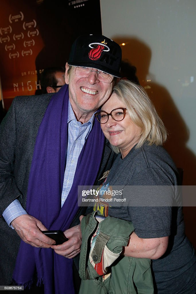 Director Jean-Marie Poire and actress of the movie Josiane Balasko attend the 'Arrete Ton Cinema !' Paris Premiere at Publicis Champs Elysees on January 6, 2016 in Paris, France.