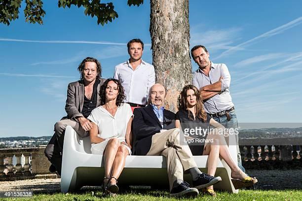 Director JeanPaul Rappeneau and actors Marine Vacth Claude Perron Mathieu Amalric Gilles Lellouche and Guillaume De Tonquedec are photographed for...
