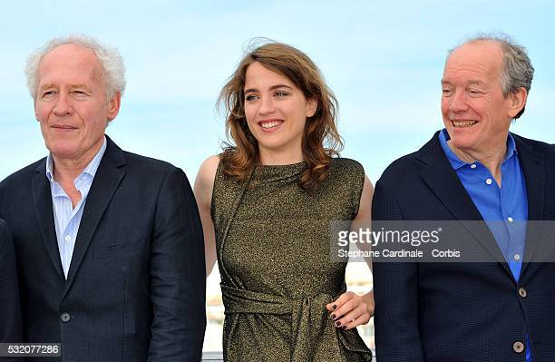 Director JeanPierre Dardenne Adele Haenel and director Luc Dardenne attend The Unknown Girl Photocall during the annual 69th Cannes Film Festival at...