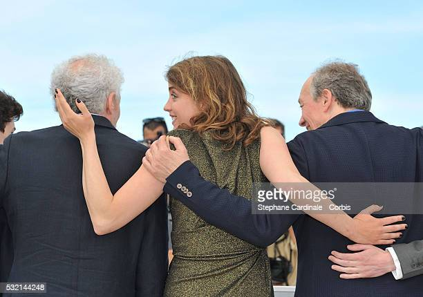 Director JeanPierre Dardenne Adele Haenel and director Luc Dardenne attend The Unknown Girl Photocall during the 69th annual Cannes Film Festival at...