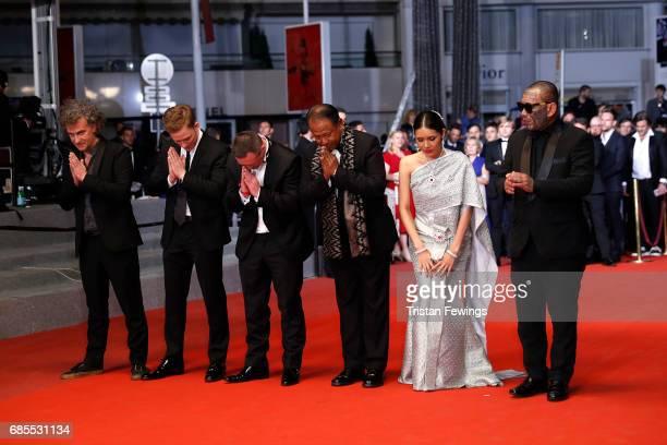 Director JeanStéphane Sauvaire actor Joe Cole former boxer Billy Moore and actors Vithaya Pansringarm Pornchanok Mabklang and Panya Yimumphai attend...