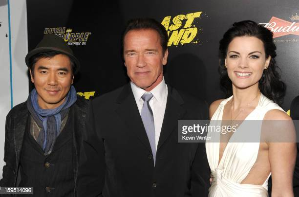 Director Jeewoon Kim actors Arnold Schwarzenegger and Jaimie Alexander arrive at the premiere of Lionsgate Films' 'The Last Stand' at Grauman's...