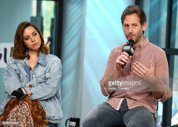 Director Jeff Baena and actress Aubrey Plaza discuss 'The Little Hours' at Build Studio on June 29 2017 in New York City