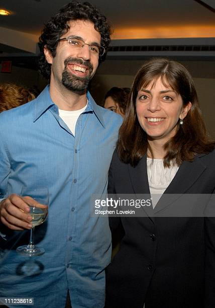 Director Jeff Blitz and Nancy Abraham of HBO during HBO/Cinemax and Think Film Present the New York Premiere of Spellbound at HBO Screening Room in...