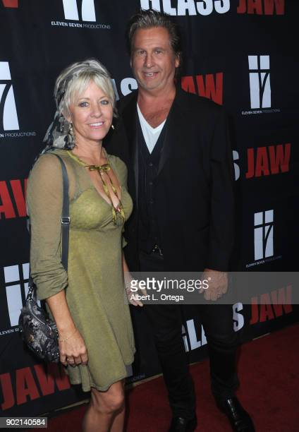 Director Jeff Celentano and guest arrive for the premiere of 'Glass Jaw' held at Universal Studios Hollywood on November 9 2017 in Universal City...
