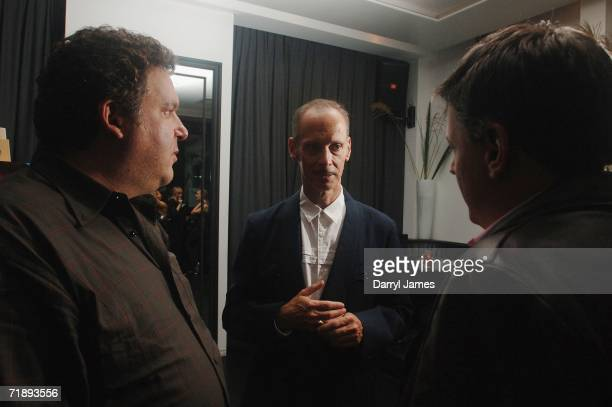 Director Jeff Garlin filmmaker John Waters and chief content advisor for Netflix Ted Sarandos attend the afterparty for This Filthy World at Lobby...