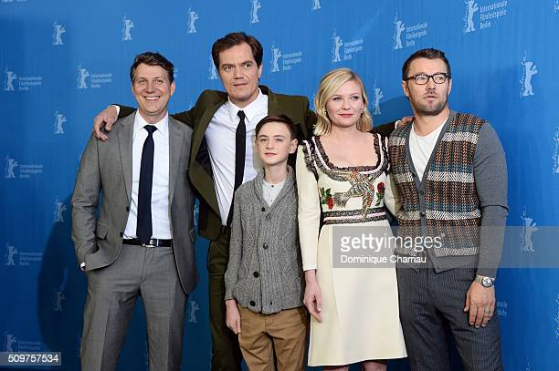 Director Jeff Nichols actors Michael Shannon Jaeden Lieberher Kirsten Dunst and Joel Edgerton attend the 'Midnight Special' photo call during the...