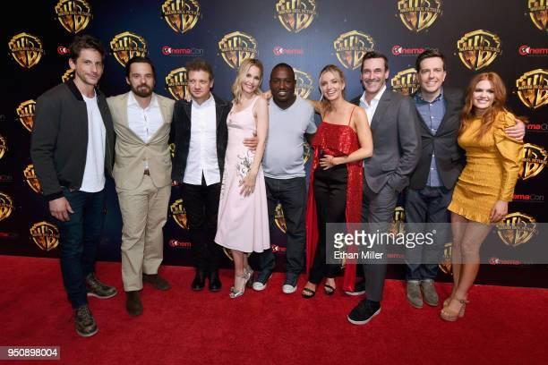 Director Jeff Tomsic actors Jake Johnson Jeremy Renner Leslie Bibb Hannibal Buress Annabelle Wallis Jon Hamm Ed Helms and Isla Fisher attend...