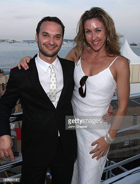 Director Jeff Vespa and Jill Montgomery attend the Nosebleed Cocktail Party held on the Bud Light Yacht during the 61st Cannes International Film...