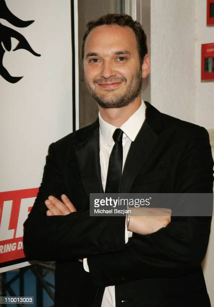 Director Jeff Vespa attend the Nosebleed premiere at the Espace Miramar during the 61st Cannes International Film Festival on May 18 2008 in Cannes...