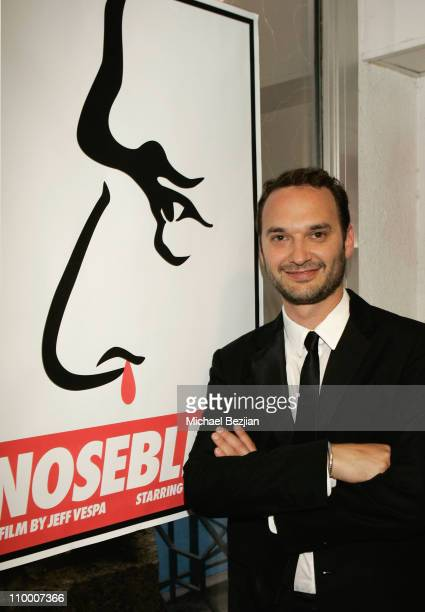 Director Jeff Vespa attends the Nosebleed premiere at the Espace Miramar during the 61st Cannes International Film Festival on May 18 2008 in Cannes...