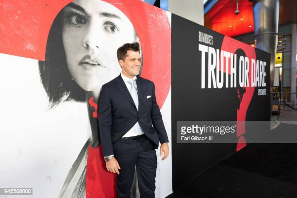 Director Jeff Wadlow attends the premiere of Universal Pictures 'Blumhouse's Truth Or Dare' at ArcLight Cinemas Cinerama Dome on April 12 2018 in...