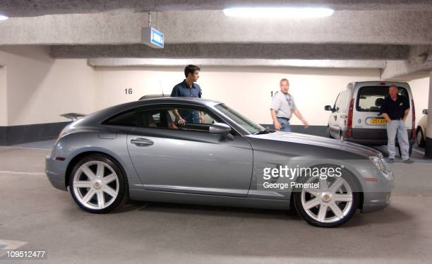 Director Jeff Wadlow leads the cast and crew in his production featuring the Chrysler Crossfire at the 2002 Cannes Chrysler Million Dollar Film...