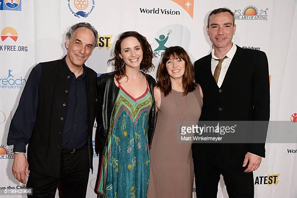 Director Jeffrey Brown Anna Campbell producer Jane Charles and Richard Matson attend the 'SOLD' Los Angeles Theatrical Premiere at Laemmle Monica...