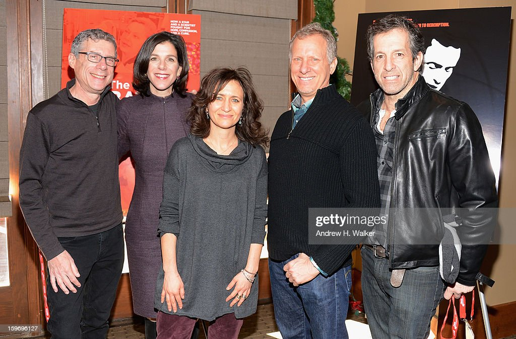 Director Jeffrey Friedman, director Alexandra Pelosi, HBO's VP Documentary Films Lisa Heller, director Rob Epstein and Kenneth Cole attend the 'Fall To Grace' and 'The Battle Of AMFAR' Brunch hosted by HBO on January 18, 2013 in Park City, Utah.