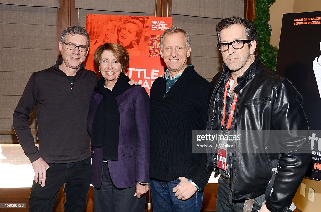 Director Jeffrey Friedman, Nancy Pelosi, director Rob Epstein and executive producer Kenneth Cole attend the 'Fall To Grace' and 'The Battle Of AMFAR' Brunch hosted by HBO on January 18, 2013 in Park City, Utah.