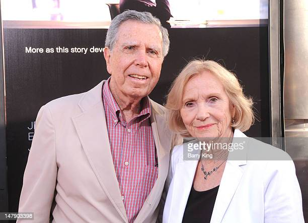 Director Jeffrey Hayden and actress Eva Marie Saint attend the premiere of HBO's 'Newsroom' at ArcLight Cinemas Cinerama Dome on June 20 2912 in...