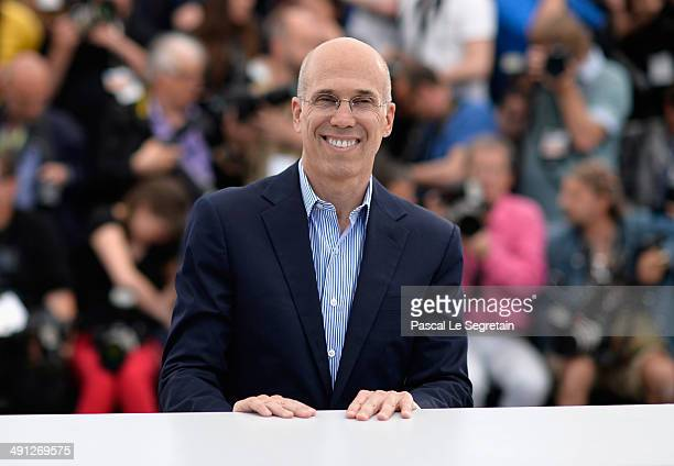 Director Jeffrey Katzenberg attends the How To Train Your Dragon 2 photocall during the 67th Annual Cannes Film Festival on May 16 2014 in Cannes...