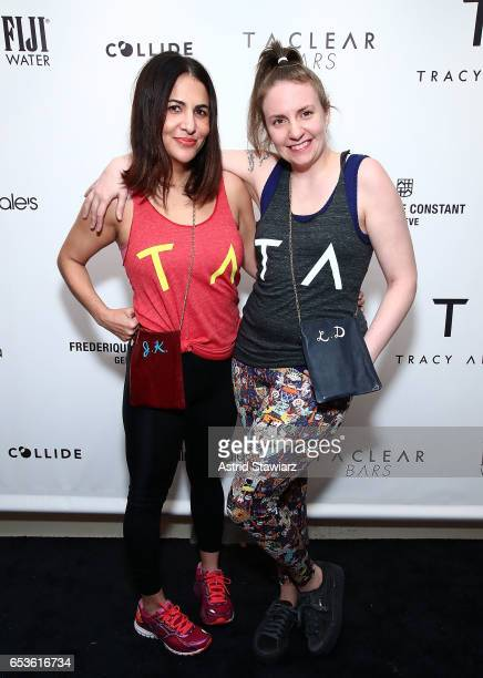 Director Jenni Konner and actress Lena Dunham attend the celebration for the Tracy Anderson 59th Street studio on March 15, 2017 in New York City.