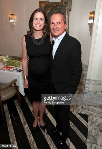 GLG director Jennifer Field and head of Public Affairs at GLG Richard Socarides attend GLG Social Impact Dinner At Milken at Cecconi's on April 30...