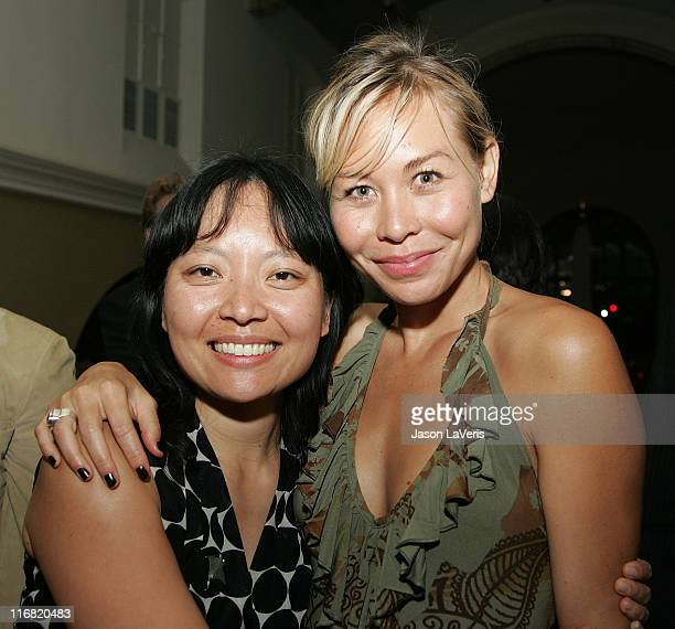 """Director Jennifer Phang and actress Sanoe Lake attend the 2008 Los Angeles Film Festival's """"Half Life"""" after party at Yamato Restaurant on June 29,..."""